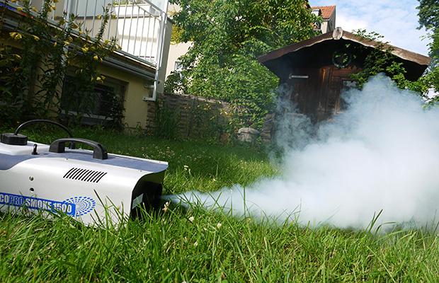 Nebelmaschine im Freien