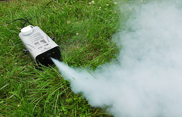 Zu wenig Leistung für große Shows im Freien: Mini-Nebelmaschine